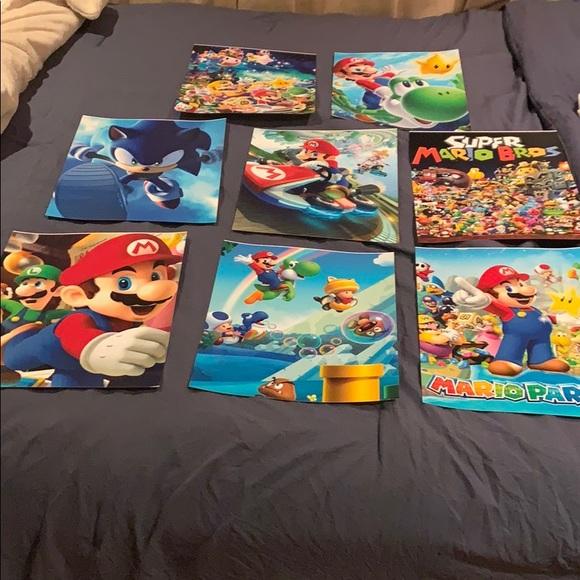 Set of 8 individual Super Mario photo prints 11X14